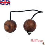SkillToyz Chinese Cherry wooden Begleri with black type 95 Paracord.