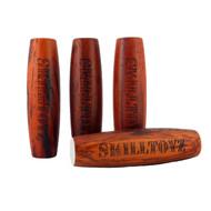Padauk wood kururin table skittle balance skill toy from SkillToyz