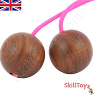 SkillToyz Chinese Cherry wooden Begleri with neon pink type 95 Paracord.