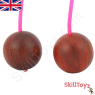 SkillToyz Padauk wood Begleri with neon pink type 95 Paracord.