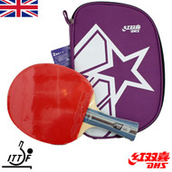 Clearance item 2018 #6 DHS Table Tennis Bat and Case A2002 IMPERFECT