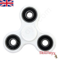 White SkillToyz R188 finger spinner ready to play!