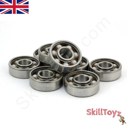 608 bearing ceramic. fidget spinner replacement bearings size 608 hybrid ceramic zro2. price is for one bearing. bearing o