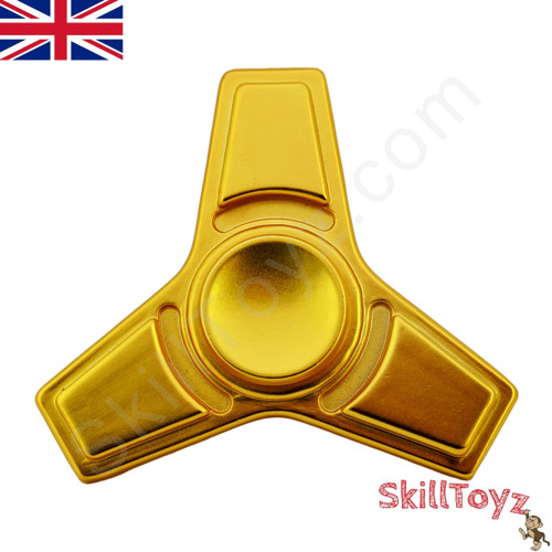 The SkillToyz 3 blade metal finger spinner fidget toy is fitted with a premium quality ceramic bearing for extra long spin times!