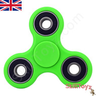 Shown with the green finger spinner finger pads fitted over the Si3N4 ceramic centre bearing. Ready to play!