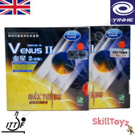 Yinhe Venus Two Table Tennis Bat Rubbers SOFT hardness front of packets. Price is for two rubbers, One red one black.
