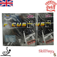 Friendship Focus 3 Snipe 44 degree hardness Table Tennis Bat Rubbers. Price is for two rubbers, One red one black.