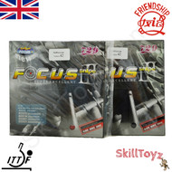 Friendship Focus 3 Snipe 42 degree hardness Table Tennis Bat Rubbers. Price is for two rubbers, One red one black.