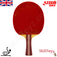 DHS (Double Happiness) Table Tennis Bat, model A4002 with free SkillToyz rubber protectors