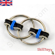 Fidget bike chain finger toy - blue