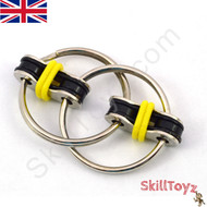Fidget bike chain finger toy - yellow