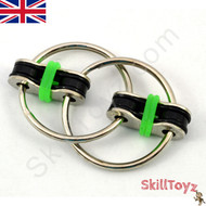 Fidget bike chain finger toy - green