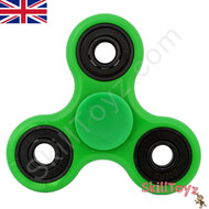 Shown with the supplied green finger pads fitted over the centre bearing of the spinner. Ready to play!