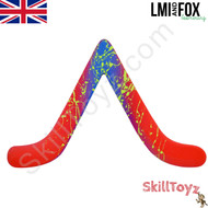 LMI and Fox Boomerangs Bargan Floating boomerang multi-coloured with hand painted details RIGHT HANDED. Each one is hand finished so the designs will vary.