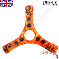 LMI and Fox Boomerangs Spin Racer 2 Malibu Carbon boomerang. RIGHT HANDED. Colour: orange.