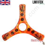 LMI and Fox Boomerangs Spin Racer 2 Malibu Carbon boomerang. RIGHT HANDED. Colour: orange.