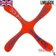 LMI and Fox Boomerangs Skyblader Float is a lovely fun beginners boomerang. Great for recreational use over the park or at the beach. RIGHT HANDED. Colour: red