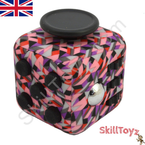 Premium Edition Fidget Cube featuring a larger body and soft touch rubberised finish. Mosaic edition.