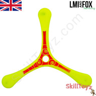 LMI and Fox Boomerangs Coach 3 blade ABS plastic boomerang yellow RIGHT HANDED. An excellent boomerang for learners.