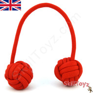 Monkey Fist Paracord Begleri 5 Inch Red Edition For sale at skilltoyz.com