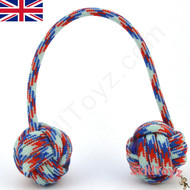 Monkey Fist Paracord Begleri 5 Inch red white and blue Edition For sale at skilltoyz.com