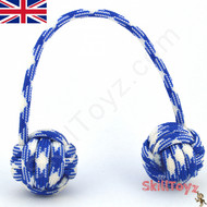 Monkey Fist Paracord Begleri 6 Inch Blue and White Edition For sale at skilltoyz.com