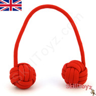 Monkey Fist Paracord Begleri 6 Inch Red Edition For sale at skilltoyz.com