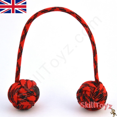 Monkey Fist Paracord Begleri 6 Inch Red and black Edition For sale at Skilltoyz.com