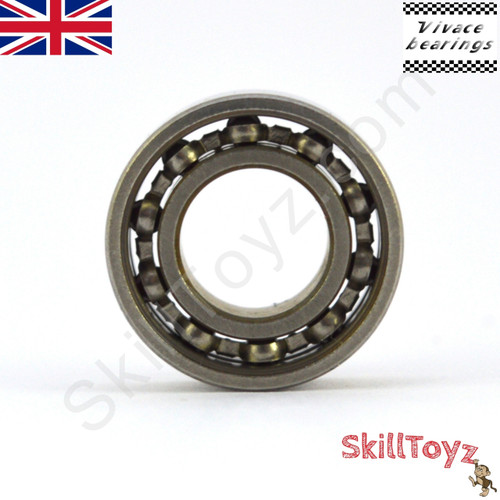 Fidget Spinner Replacement unshielded Bearing Size R188 Stainless Steel with 10 Ceramic balls - ABEC 5 rated.