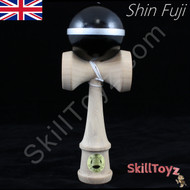 Shin Fuji Kendama Japanese Wooden Skill Toy Black with Silver Line