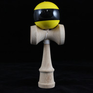 Dragon Kendama yellow with black stripe beech wood 'Wasp' Edition