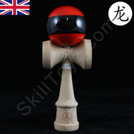 Dragon Kendama red with black stripe 'The Menace' Edition.