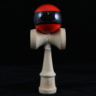 Dragon Kendama beech wood red with black stripe 'The Menace' Edition.