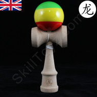 Dragon Kendama red-yellow-green 'Rasta' Edition traditional wooden skill toy