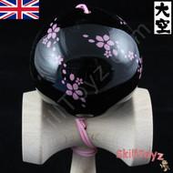 Ozora Sakura Kendama Petal Design Black