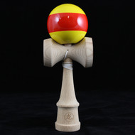 Dragon Beech Wood Kendama yellow with red stripe 'Sunset'