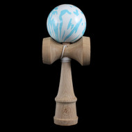 Dragon Wooden Traditional Kendama with an Aqua pattern ball