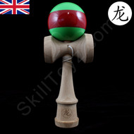 Dragon Kendama green with red stripe 'Watermelon'