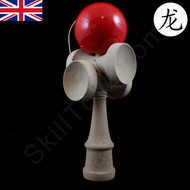 Dragon Kendama 5 Cup Wooden Traditional Skill Toy in Cherry Red