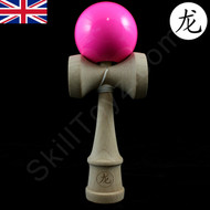 Dragon wooden Kendama Solid Neon Pink colour skill toy.