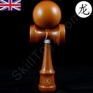 Dragon Kendama 'Light Oak' varnished wooden skill toy.