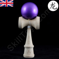 Dragon wooden Kendama with a metallic 'Purple Amethyst' painted ball (tama)