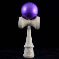 Dragon wooden Kendama with a metallic 'Purple Amethyst' painted ball (tama)