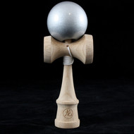 Dragon Baby Kendama Tiny playable wooden skill toy Metallic Silver