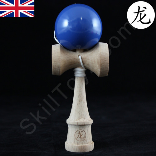 Dragon Baby Kendama Tiny playable wooden skill toy royal blue