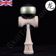 Dragon Beech wood Kendama Black with Gold stripe 'Gold Ring'