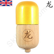 Dragon Kendama Wooden Pill Metallic Gold Colour Toy