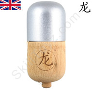 Dragon Kendama Pill Metallic Silver wooden toy