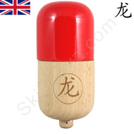 Dragon Kendama Wooden Pill Red