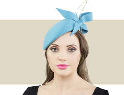 Jane Taylor London Autumn Poppy teal hat for winter